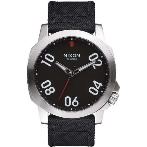 Часы NIXON RANGER 45 NYLON (BLACK/RED) цена и фото