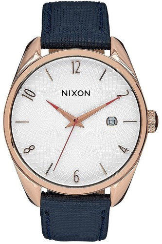 Часы NIXON BULLET LEATHER (ROSE GOLD/NAVY)