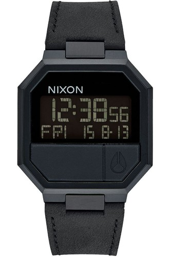 Часы NIXON RE-RUN LEATHER (All Black)