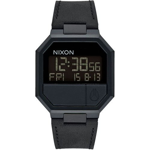 Часы NIXON RE-RUN LEATHER (All Black) цена и фото