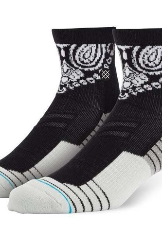 Носки STANCE BLUE ATHLETIC FUSION 3FOLD QTR (BLACK) носки stance blue foundation barrio black