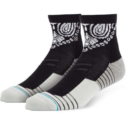 цена на Носки STANCE BLUE ATHLETIC FUSION 3FOLD QTR (BLACK)