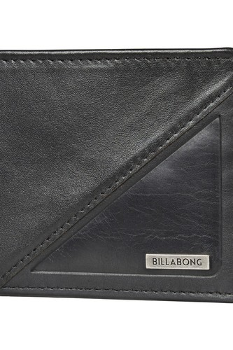 Кошелек BILLABONG SPLIT LEATHER WALLET (BLACK) кошелек billabong dimension wallet navy heather