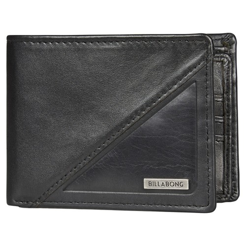 Кошелек BILLABONG SPLIT LEATHER WALLET (BLACK) гидроботинки billabong revolution 3mm boot black