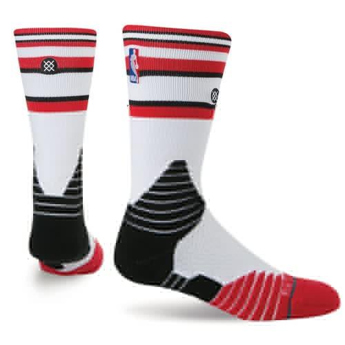 носки средние stance nba oncourt qtr thin stripe red Носки STANCE NBA ONCOURT CORE CREW BULLS (WHITE)