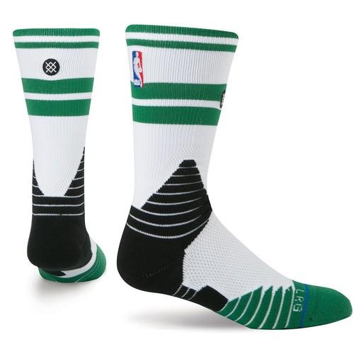 носки средние stance nba oncourt qtr thin stripe red Носки STANCE NBA ONCOURT CORE CREW CELTICS (WHITE)