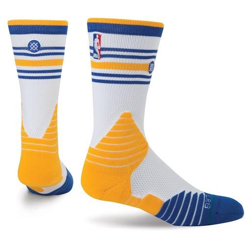 носки средние stance nba oncourt qtr thin stripe red Носки STANCE NBA ONCOURT CORE CREW WARRIORS (WHITE)