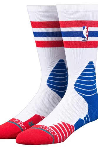 цена на Носки STANCE NBA ONCOURT CREW THIN STRIPE (RED)