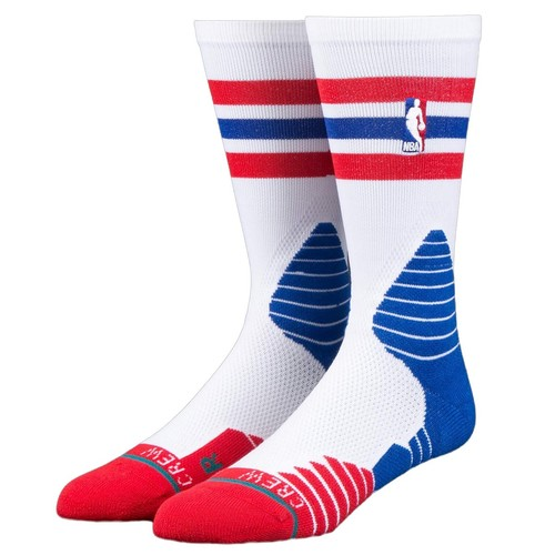 цены на Носки STANCE NBA ONCOURT CREW THIN STRIPE (RED)  в интернет-магазинах