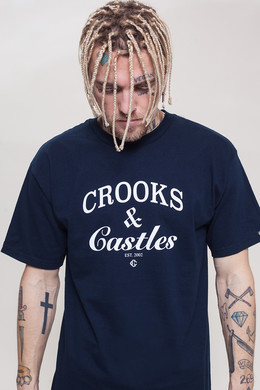 Футболка CROOKS & CASTLES Timeless Crew T-Shirt C1760701 Navy фото