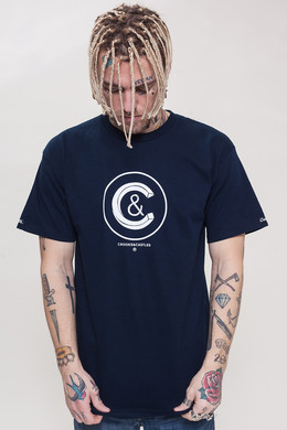 Футболка CROOKS & CASTLES Crusher Crew T-Shirt Navy фото