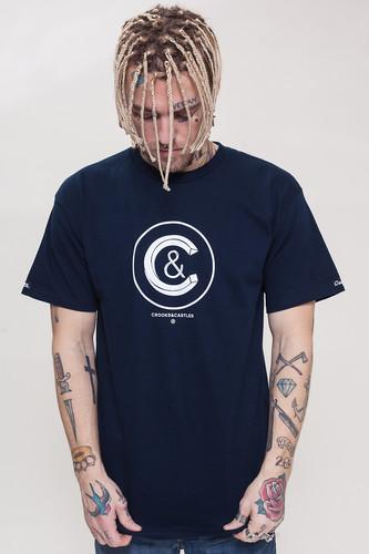Футболка CROOKS & CASTLES Crusher Crew T-Shirt (Navy, S)