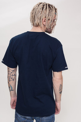 Футболка CROOKS & CASTLES Crusher Crew T-Shirt Navy фото 2
