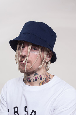 Панама TRUESPIN Blank Bucket Hats Navy фото 2