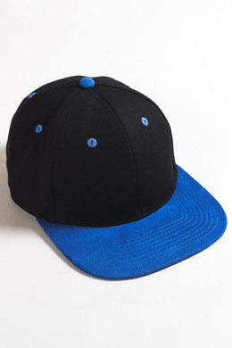 Бейсболка TRUESPIN 2 Tone Blank Next Level Black/Blue фото