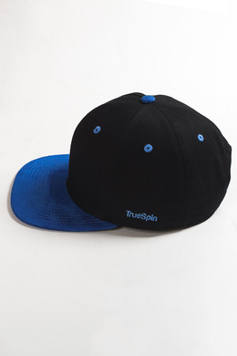 Бейсболка TRUESPIN 2 Tone Blank Next Level Black/Blue фото 2