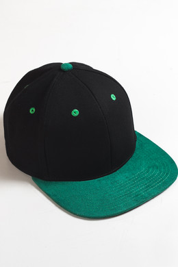 Бейсболка TRUESPIN 2 Tone Blank Next Level Black/Green фото