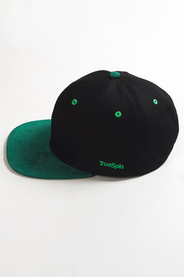 Бейсболка TRUESPIN 2 Tone Blank Next Level Black/Green фото 2