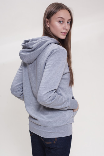 Толстовка CROOKS & CASTLES Sliced Logo Hooded Pullover женская Heather Grey фото 5