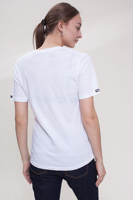 Футболка CROOKS & CASTLES Stencil V-Neck T-Shirt женская White фото 2