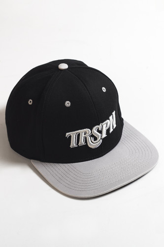 Бейсболка TRUESPIN Typo Team (Black/Grey, O/S) бейсболка truespin 2 tone blank trucker cap heather grey white o s