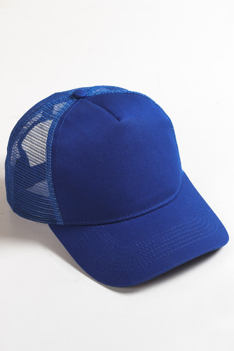 Бейсболка TRUESPIN Blank Round Visor Trucker (Royal Blue, O/S) бейсболка truespin 2 tone blank trucker cap heather grey white o s
