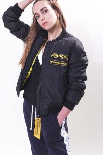 Куртка ЮНОСТЬ СМП - Лого женская (Черный, L)
