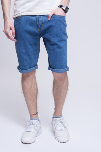цена на Шорты ЗАПОРОЖЕЦ Basic Denim Short Zap Regular Flex (Classic Blue, 32)