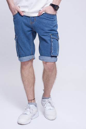 Шорты ЗАПОРОЖЕЦ Pocket Denim Short Zap Regular Flex Classic Blue 42 фото 5