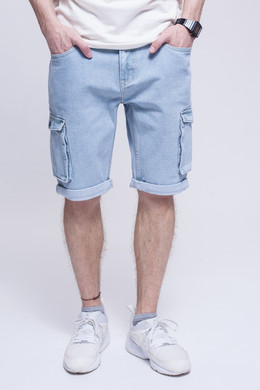 Шорты ЗАПОРОЖЕЦ Pocket Denim Short Zap Regular Flex Light Blue 44 фото