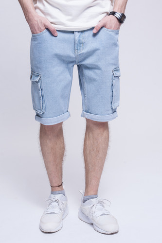 Шорты ЗАПОРОЖЕЦ Pocket Denim Short Zap Regular Flex Light Blue 44 фото 5