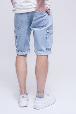 Шорты ЗАПОРОЖЕЦ Pocket Denim Short Zap Regular Flex Light Blue 44 фото 2