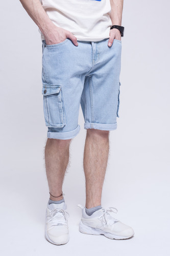 Шорты ЗАПОРОЖЕЦ Pocket Denim Short Zap Regular Flex Light Blue 44 фото 7