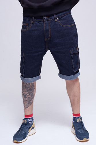Шорты ЗАПОРОЖЕЦ Pocket Denim Short Zap Regular Flex Raw Blue 45 фото 4