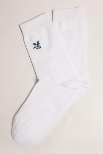 Носки ЗАПОРОЖЕЦ Дичь вышивка (Белый, O/S)
