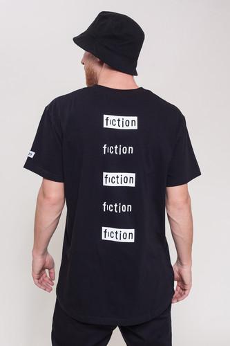 Футболка FICTION WEAR Черная (Черный, XL) футболка fiction wear jesus blue melange xl