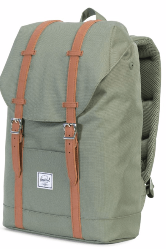 Рюкзак HERSCHEL RETREAT MID-VOLUME (Deep Lichen Green/Tan Synthetic Leather) стоимость