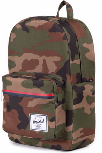 Рюкзак HERSCHEL POP QUIZ MID-VOLUME (WOODLAND CAMO/MULTI ZIP) спальный мешок campus hobo 200 sq r zip 210 х 35 х 100 см