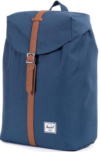 Рюкзак HERSCHEL POST MID-VOLUME (Navy/Tan Synthetic Leather) стоимость