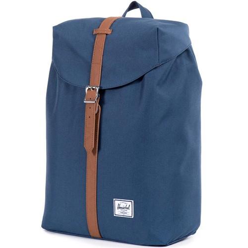 Рюкзак HERSCHEL POST MID-VOLUME (Navy/Tan Synthetic Leather) все цены