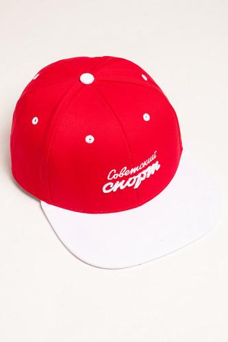 Бейсболка ЗАПОРОЖЕЦ х СОВЕТСКИЙ СПОРТ Logo Snapback (Red/White, O/S)