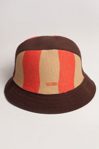 Панама KANGOL Bumble Stripe Player Bucket Kids (Tobacco, M)