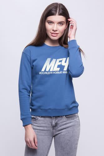 Толстовка МЕЧ AT W - SW - Лого женская (Голубой, M) цены