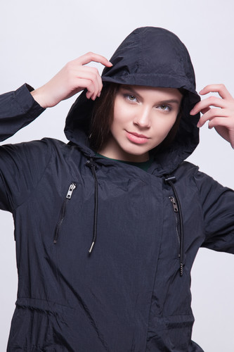 Парка URBAN CLASSICS Ladies Asymetric Parka Black фото 11