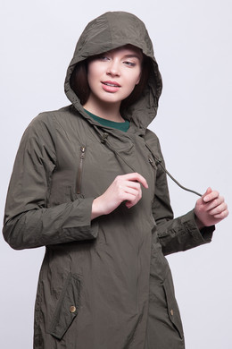 Парка URBAN CLASSICS Ladies Asymetric Parka Dark Olive фото