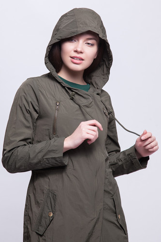 Парка URBAN CLASSICS Ladies Asymetric Parka (Dark Olive, XS)