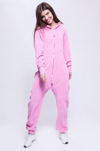 цена на Комбинезон ONEPIECE Vera Velur Jumpsuit (Pink, M)