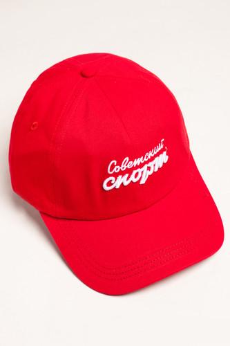 Бейсболка ЗАПОРОЖЕЦ х СОВЕТСКИЙ СПОРТ Logo Papa Cap (Red, O/S)