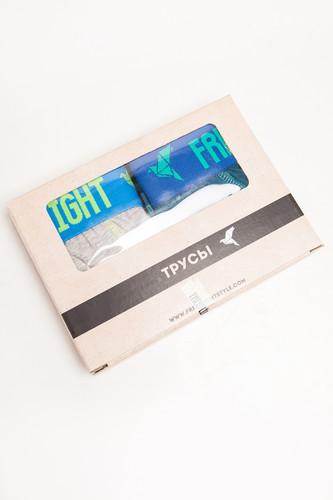 Трусы FREE FLIGHT Vol.6 (Light Grey Melange/Sea Wave, S)