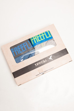 Трусы FREE FLIGHT Vol.13 Light Grey Melange/Navy Steel фото